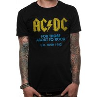 AC/DC - For Those About To Rock Logo Men's Small T-Shirt - Black