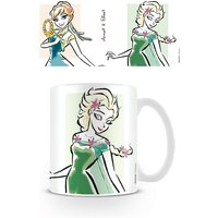 Frozen - Elsa and Anna Illustration Mug