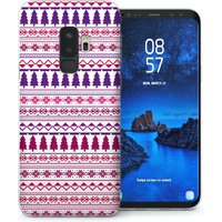CASEFLEX SAMSUNG GALAXY S9 PLUS CHRISTMAS TREE PATTERN (PINK/PURPLE) CASE / COVER (3D)