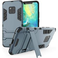 Caseflax Huawei Mate 20 Pro Armour Kickstand Case - Steel Blue