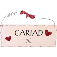Cariad Welsh Hanging Sign