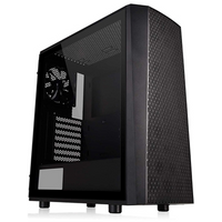 Thermaltake Versa J24 Tempered Glass Edition Mid Tower 2 x USB 3.0 Tempered Glass Side Window Panel Black Case