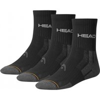 Head Crew Socks 35/38 Black PK3