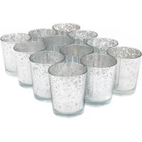 12 Speckled Glass Tea Light Holders | M&W Silver