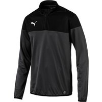 Puma ftblPLAY 1/4 Zip Top  Asphalt-Black Medium