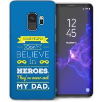 CASEFLEX SAMSUNG GALAXY S9 PLUS DAD HEROES QUOTE (BLUE) CASE / COVER (3D)