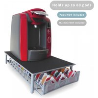 Ex-Display 60 Pod Tassimo Coffee Holder & Dispenser Stand With Drawer Storage Green House Grey Used - Like New