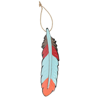 Boho Bandit Decor Hanging Wood Feather