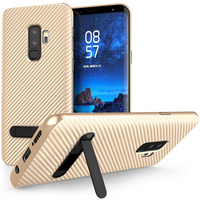 Samsung Galaxy S9 Plus Ultra Thin Slim Carbon Fibre TPU With Stand - Gold