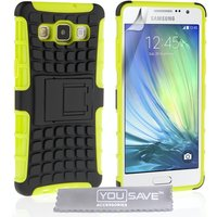 YouSave Accessories Samsung Galaxy A7 Combo Stand Case - Green-Black