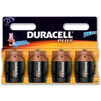 Duracell Plus Power D Size 4 Pack MN1300B4