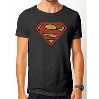 Superman - Vintage Logo Men's Small T-Shirt - Grey