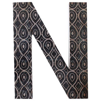 Letter N Wall Plaque