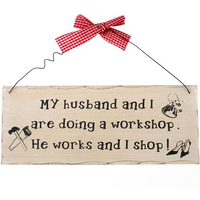 My Husband And I Hanging Sign