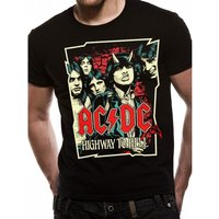 AC/DC - Cartoon Men's Large T-Shirt - Black