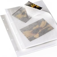 Album Sheets DIN A4 with Glassine paper White 10 pieces