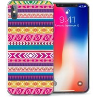 CASEFLEX APPLE IPHONE X AZTEC YELLOW/PURPLE/PINK CASE / COVER (3D)