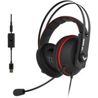 Asus TUF Gaming H7 7.1 Gaming Headset, 53mm Driver, 3.5mm Jack (USB Adapter), Boom Mic, Virtual Surround, Stainless-Steel...