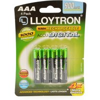 Lloytron B015 Rechargeable Accudigital AAA Ni-MH Batteries 900mAh 4 Pack