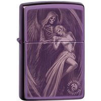 Zippo Unisex's Anne Stokes Dance with Death High Polish Purple Windproof Lighter