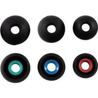 Silicone Replacement Ear Pads size S - L 6 pieces (Black)