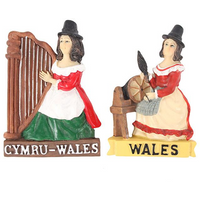 Welsh Lady Magnet Pack Of 12
