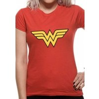 Wonder Woman Logo DC Essentials Range Womens T-Shirt X-Large - Red