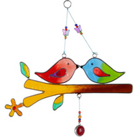 Love Birds On A Branch Windchime