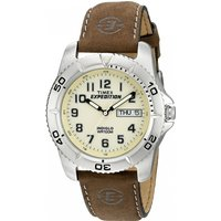 Timex T46681 Expedition Traditional Watch with Rugged Brown Strap