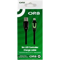 ORB 3m LED Controller Charge and Play Cable Xbox One