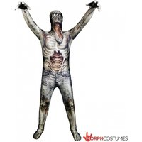 The Zombie Morph Monster Adult Unisex Cosplay Costume Large Morphsuit
