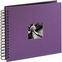 Fine Art Spiralbound Album 28x24 cm 50 black pages (Purple)