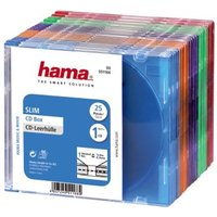 Hama Slim CD Jewel Case, pack of 25, coloured