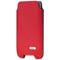 SOX Per For Genuine Leather Premium Mobile Phone Pouch for iPhone/Samsung and more, Large, Red (SOX KPFO 02 L)