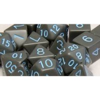 Opaque Dark Grey/Light Blue Poly 15 Set Dice