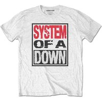 System Of A Down - Triple Stack Box Men's XX-Large T-Shirt - White