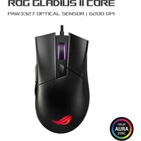 ASUS ROG Gladius II Core Gaming Mouse, 200-6200 DPI, Lightweight, Ergonomic, RGB Lighting