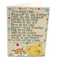 Pack of 6 You Are The Peanut Smiley Cards