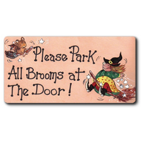 Please Park All Brooms Smiley Magnet Pack Of 12