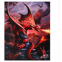 Small Fire Dragon Canvas Picture by Anne Stokes