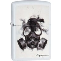 Zippo Spazuk Gas Mask White Matte Finish Windproof Lighter