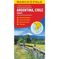 Argentina, Chile, Uruguay South America Marco Polo Map by Marco Polo (Sheet map, folded, 2017)