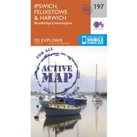 Ipswich, Felixstowe and Harwich by Ordnance Survey (Sheet map, folded, 2015)