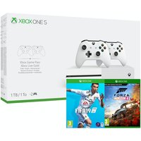 Xbox One S 1TB Dual Controller Console with Forza Horizon 4 + FIFA 19
