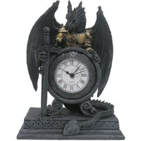 'Gothic Armoured Dragon Mantle Clock