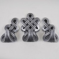 Round Celtic Hooks Silver (Set of 3)