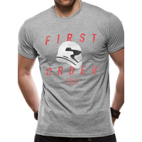 Star Wars 8 - First Order Trooper Profile Men's Small T-Shirt - Grey