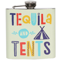 Tequila & Tents Hip Flask
