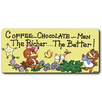 Coffee, Chocolate, Men Smiley Magnet Pack Of 12