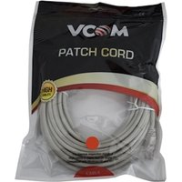 VCOM RJ45 (M) to RJ45 (M) CAT5e 5m Grey Retail Packaged Moulded Network Cable